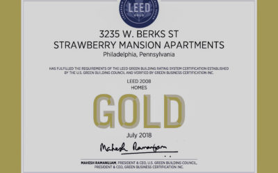 Strawberry Mansion LEED GOLD cert
